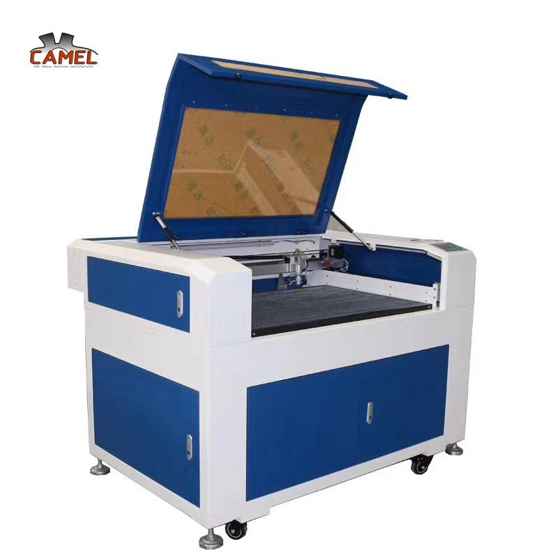 small size CA-6090 80w 100w mini cnc wood mdf acrylic plexiglass co2 laser cutting machine price