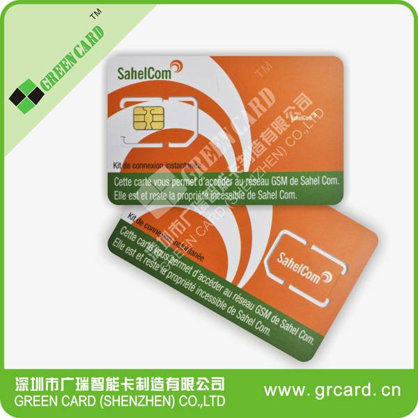 Mobile phone SIM card with nano size