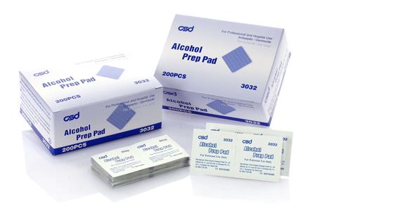 medical alcohol prep pads