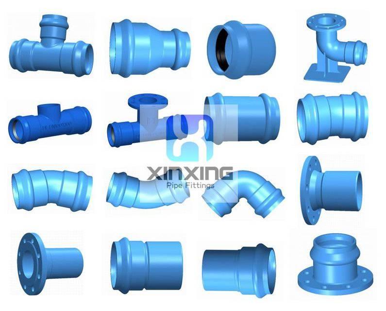 Dutctile Iron pipe fittings for PVC