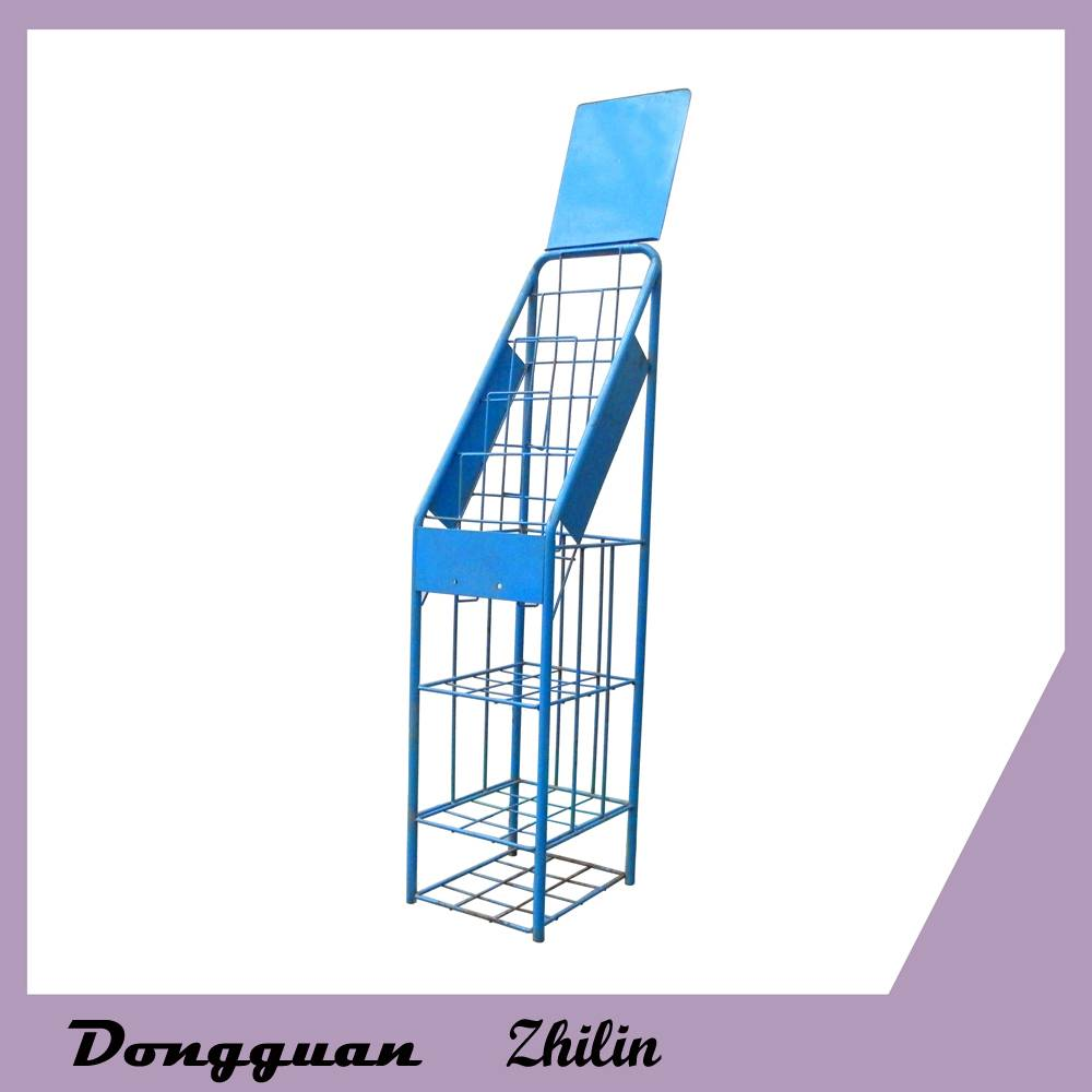 Popular magazine display stand,multifunction metal newspaper rack