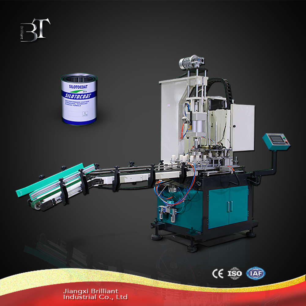 Factory sale full automatic tin can sealing machine