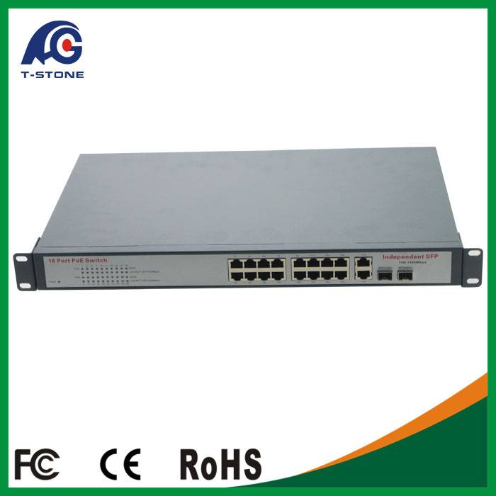 Industrial Switch 10/100/1000M 802.3af Protocol 15.4W Port for IP Camera Lay2 Network ethernet POE s