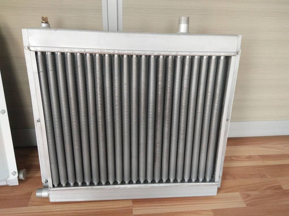 Radiator with fan for animal husbandry Aluminum radiator with circular tube
