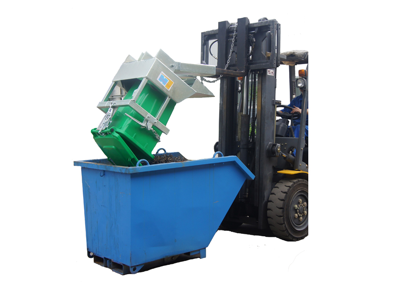 Wheelie Bin Tipper Forklift Attachment