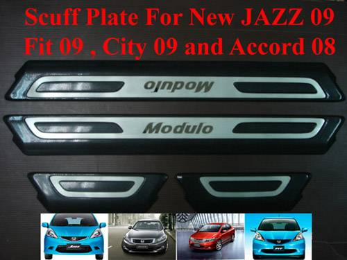 SCUFF PLATE HONDA NEW ACCORD 08, NEW JAZZ 09 GE , NEW CITY 09, New FIT and MODULO