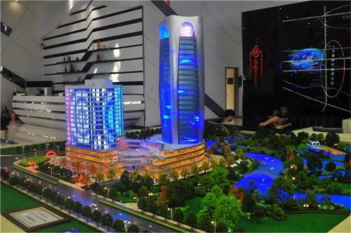 1:100 scale house model , led light building model