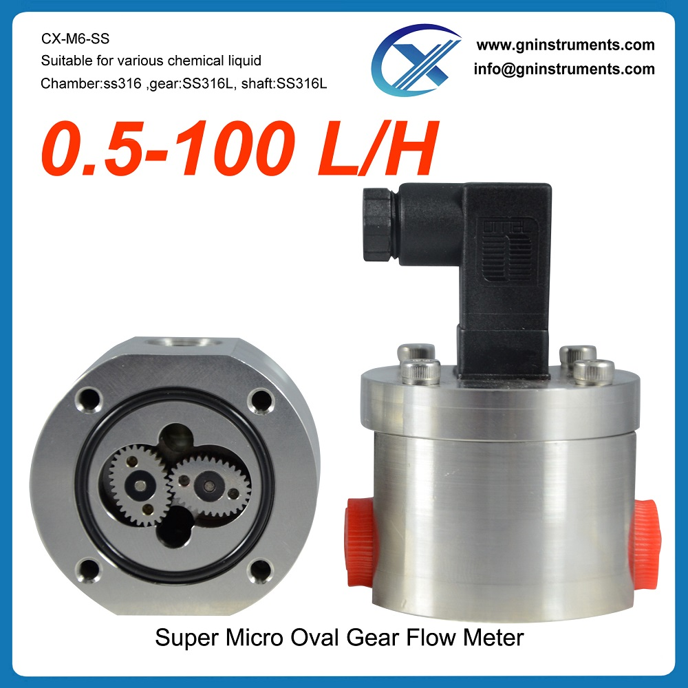Germany technology two-component mixers mini low micro flow meter