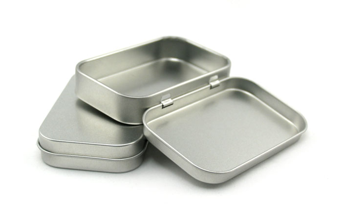 High quality cigarette tin box with hinged