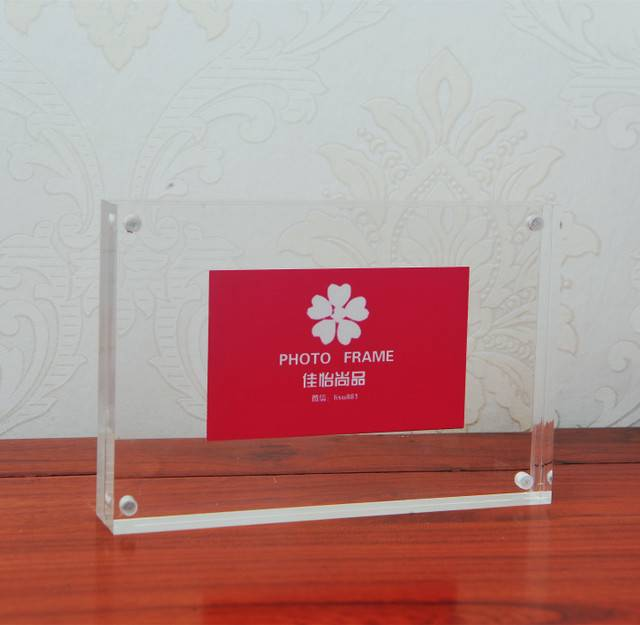 Clear 5*7 inches acrylic magnetic photo frame