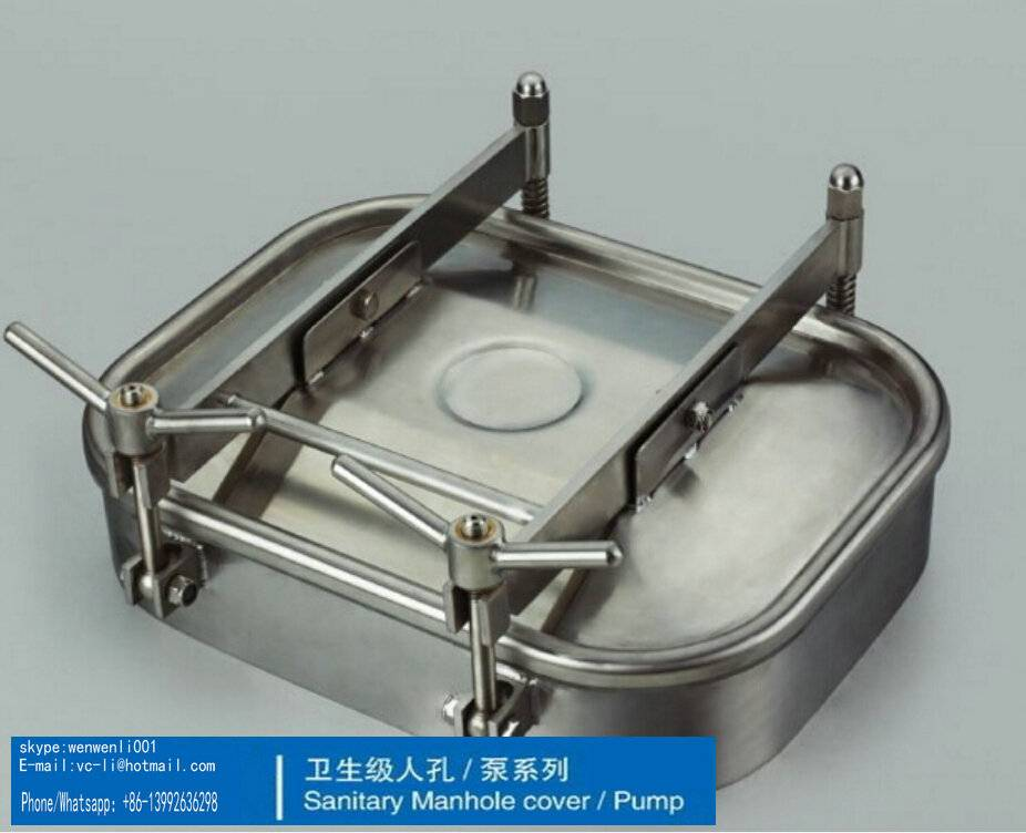 Sanitary Stainless Steel manhole, size:230*330mm ,SS304
