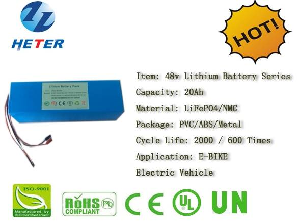 48v20Ah E-Bike Lithium Battery; EV/Scooter/Moped Battery; LiFePO4/NMC Battery Series; 48v Li-ion Bat