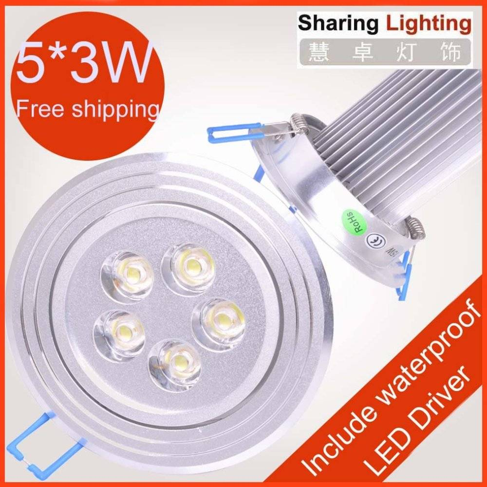 15W Non dimmable led downlight,led ceiling light with waterproof drive