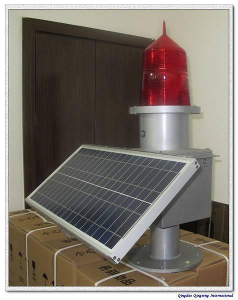 solar avation obstruction light/aircraft warning light