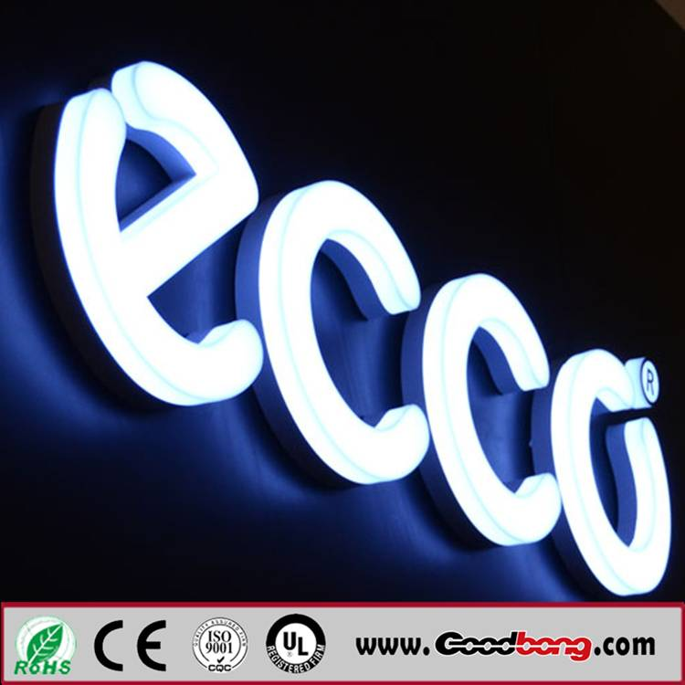 Customized acrylic LED letter used for outdoor sign