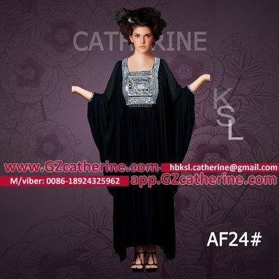 Arabic Gowns Designs Black Velvet Bat Sleeves Jalabiya