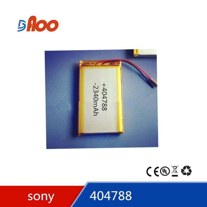 Li-polymer battery pack 3.7V 404788 rechargeable battery