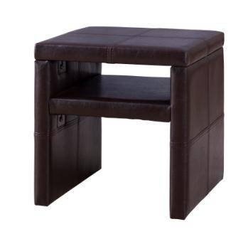 Basic Upholstered PU Leather Bedside Table Nightstand