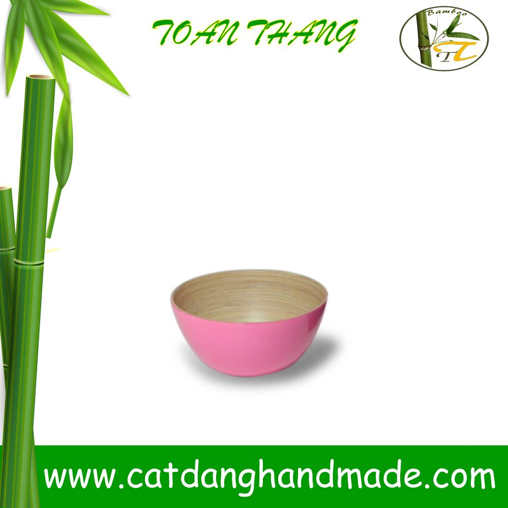 Spun bamboo salad bowl, eco-friendly bamboo bowl made by hand(skype: jendamy, Mob: +84 914542499)