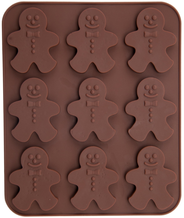 SILICONE GINGER BOY CHOCOLATE MOULD