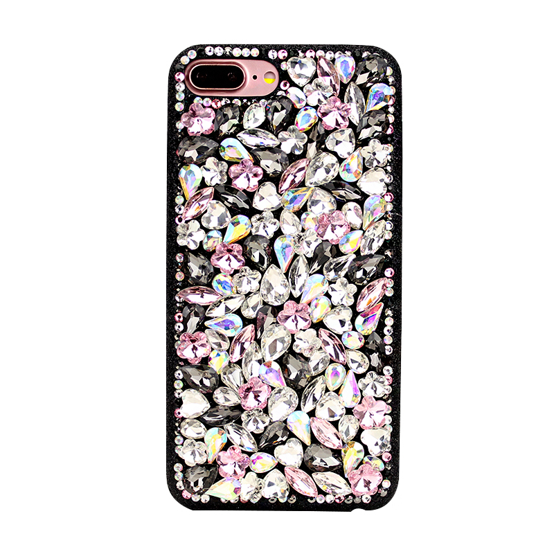 Luxury Bling Handmade Full Crystals Back Phone Cover for iPhone X/8/7/6splus Samsung S6/S7/S8+