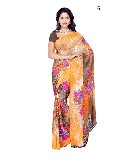Latest Indian Printed Saree