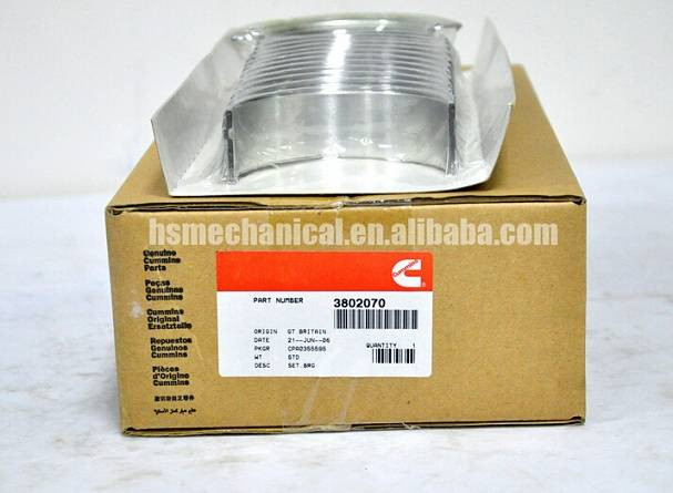 6BT engine bearing main bearing STD 3802070 6BT con rod bearing thrust bearing STD 3901170 3939859