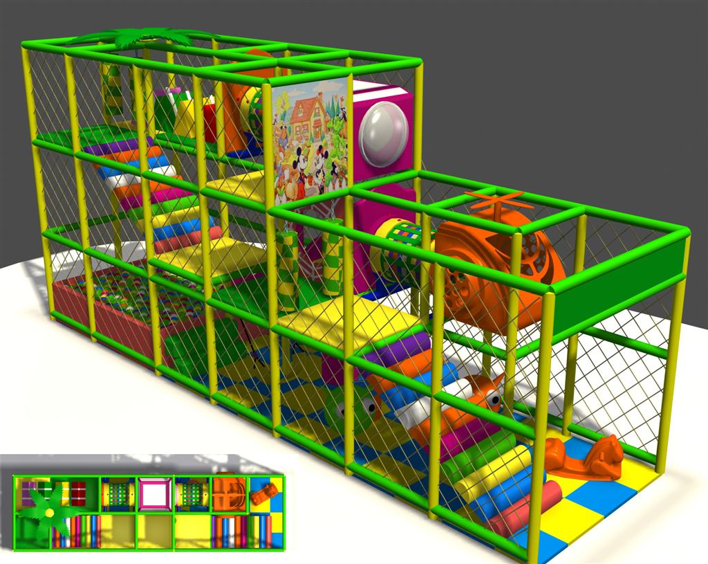HLB-I17098 Indoor Kids Play Structures Small Child Playground