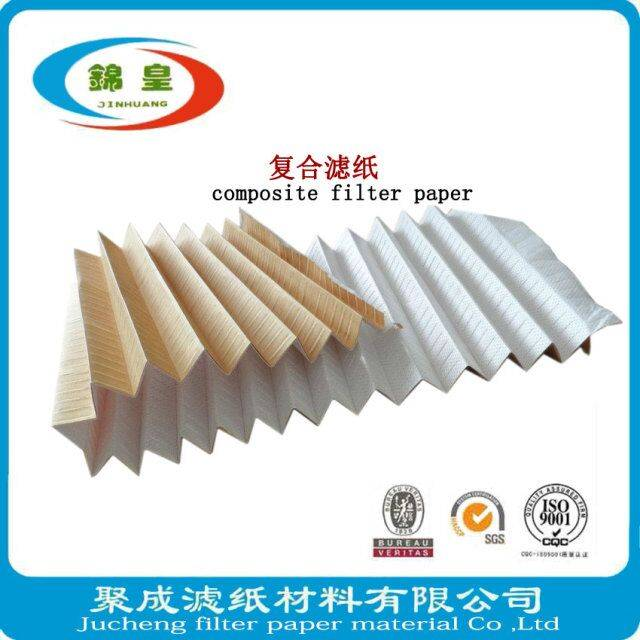 Automobile composite fiber filter using paper