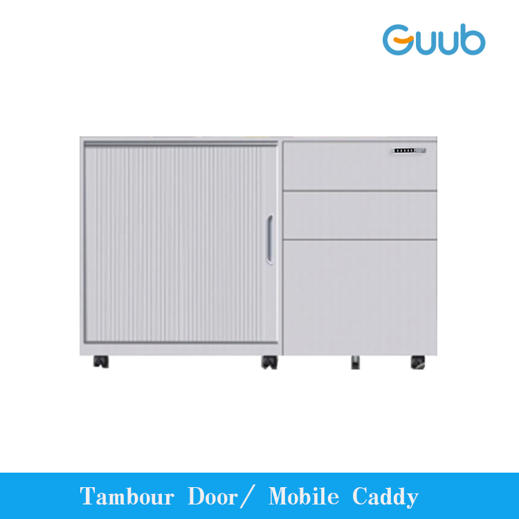 High Quality steel office tambour door file storage cabinet,Mobile Metal Storage Caddy With office 3