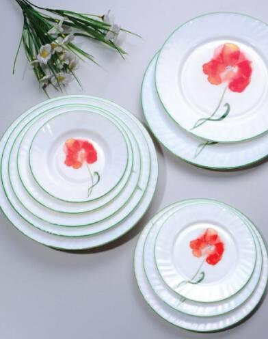 18pcs dinner set Opal Glassware Set