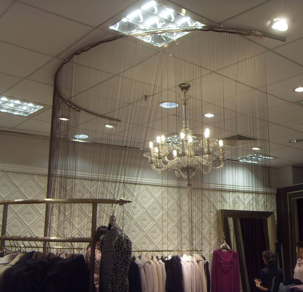 metal beaded chain curtain