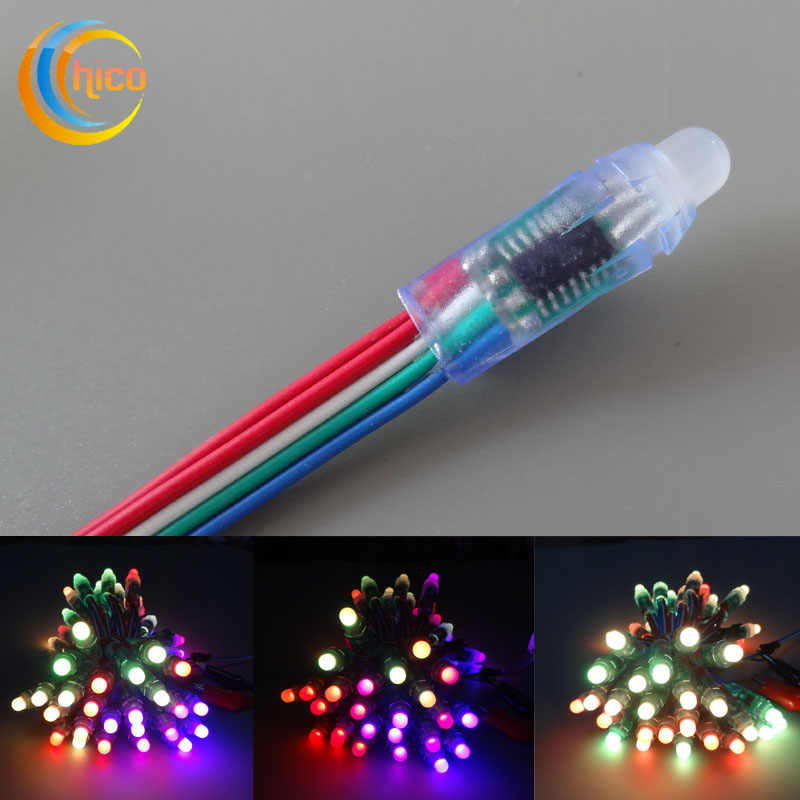 RGB Led pixel light LED string 12mm Full Color With IC WS2801 9813 6803 16726 DMX512