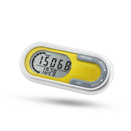 3D pedometer with 7 days memory