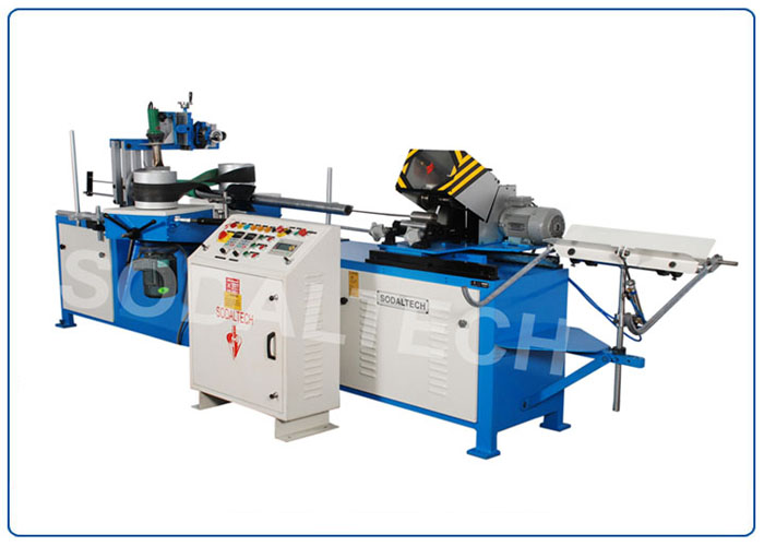 Compact Core Winder with online Cutter