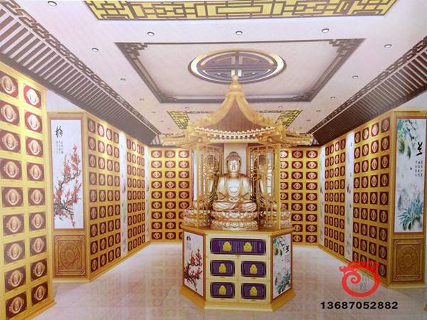 Temple supplies of columbarium for storage ash casket
