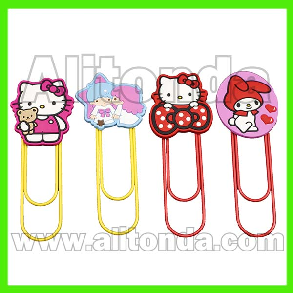 None paper cartoon animal flower food car shape cute small bookmark with clips