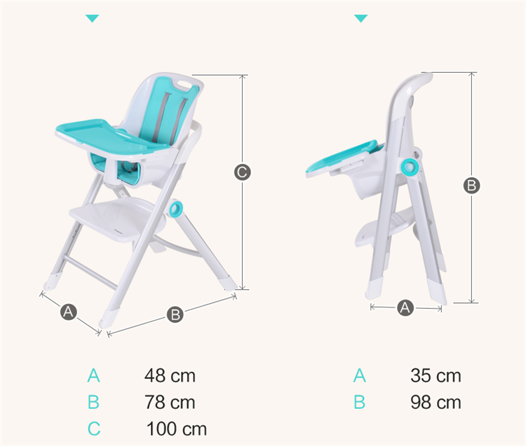 I-CY002 height adjustable PP plastic baby high chair baby sitting chair