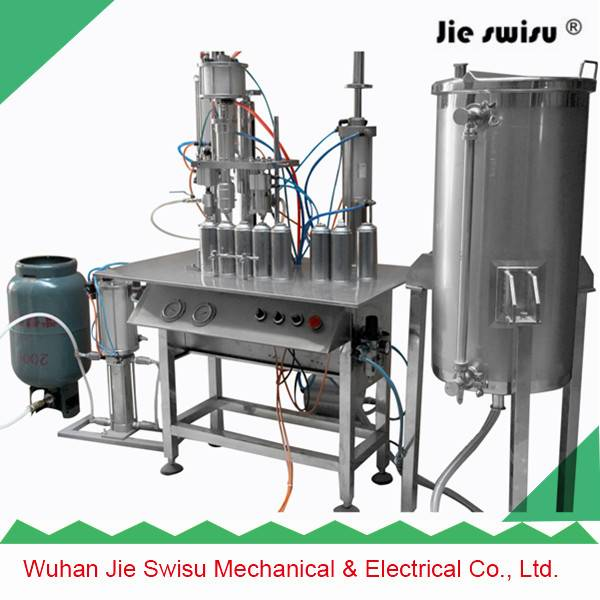 3 in 3 tables type Aerosol can spray filling machine