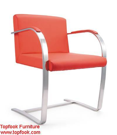 Ludwig mies van der rohe inspired Brno Flat Chair with arms