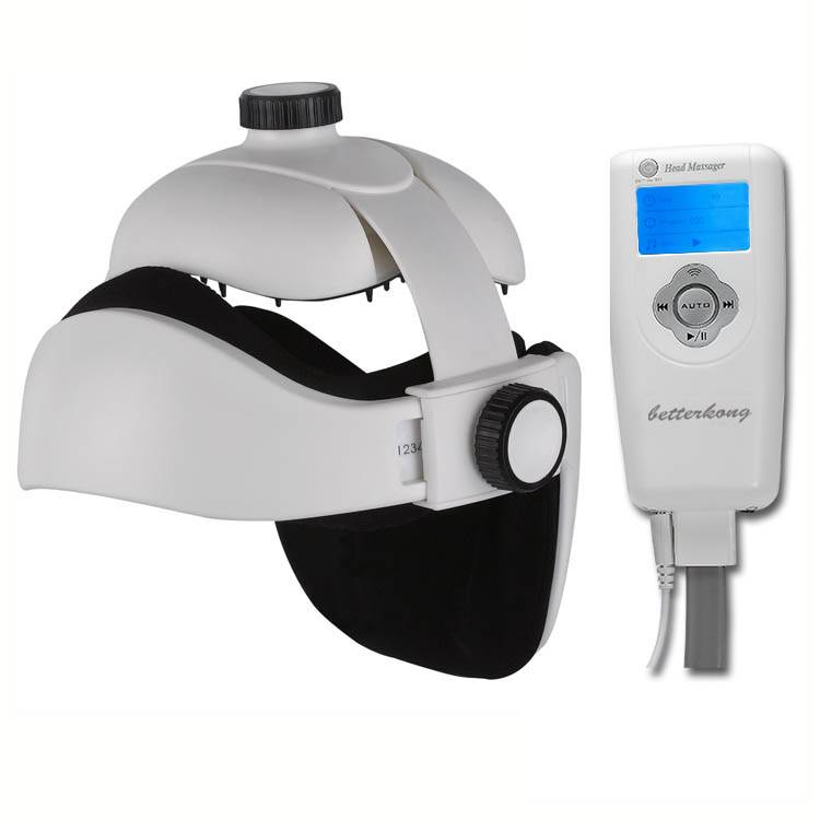 Betterkong BK302 Air pressure head massager, with vibration, download and play MP3, heating and LCD