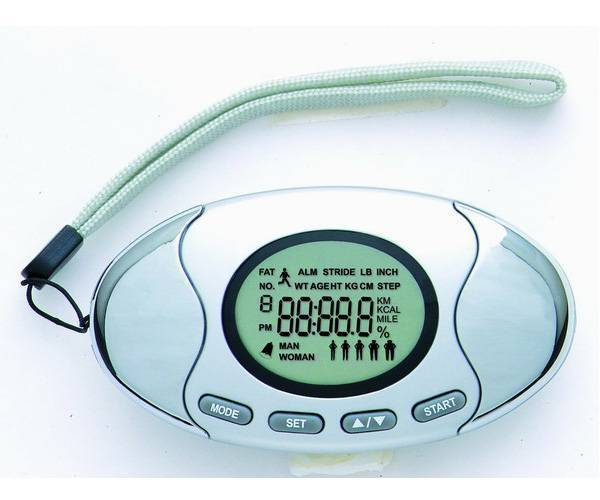 Pedometer with Body Fat Monitor