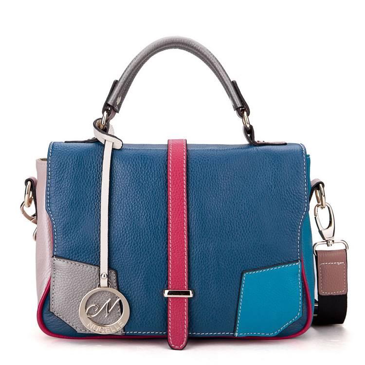 lady handbag cowskin leather bag