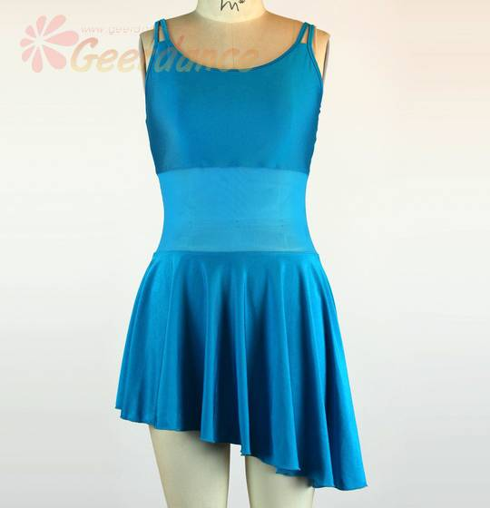 Spandex Netting Inlay, Camisole Leotard Skirt, Lady Balletwear 15Y3001