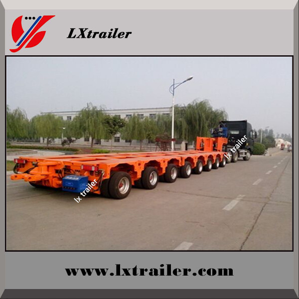 China made Multi axle 200 ton hydraulic modular low bed trailer