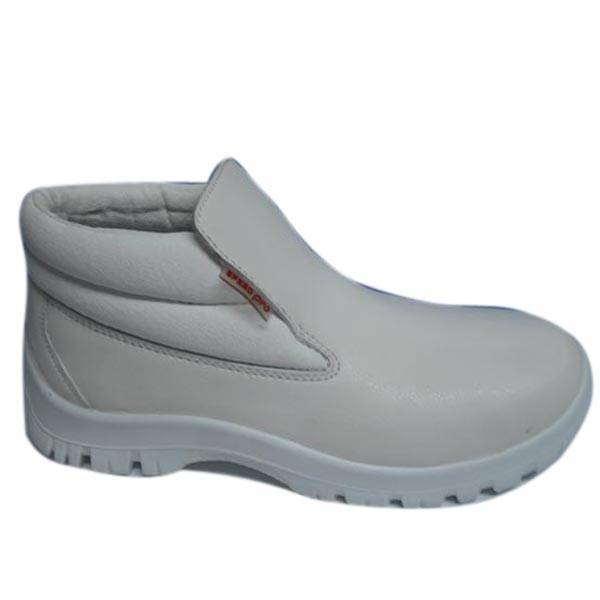 Leather White Antistatic Safety Shoes