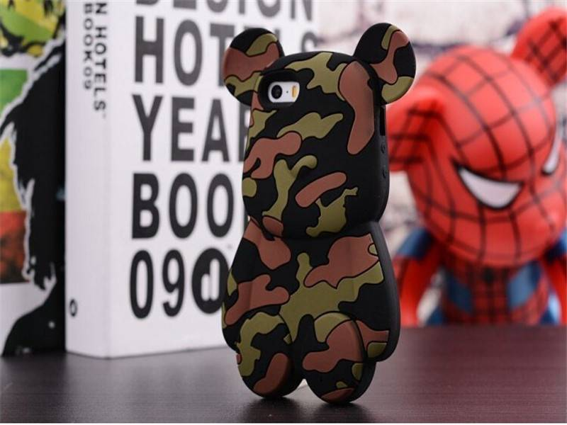 hot sale silicone Cartoon mobile phone case for iPhone 5 ,fashion cellphone case