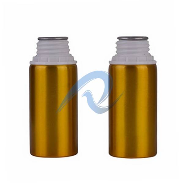 aluminum bottle with plastic safe cap