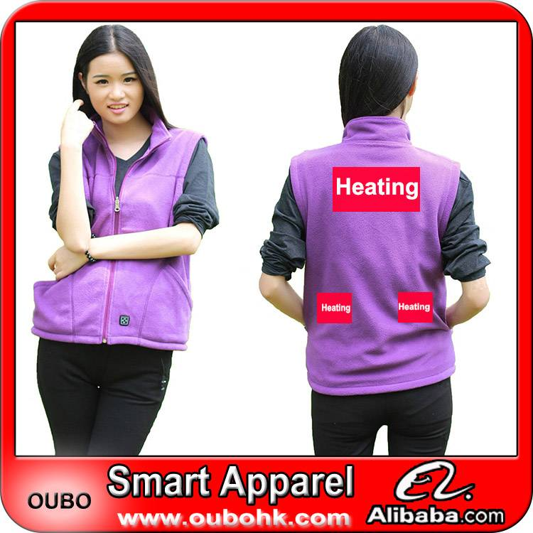 Casual waistcoat designs for women With Heating System Battery Heated Clothing Warm OUBOHK