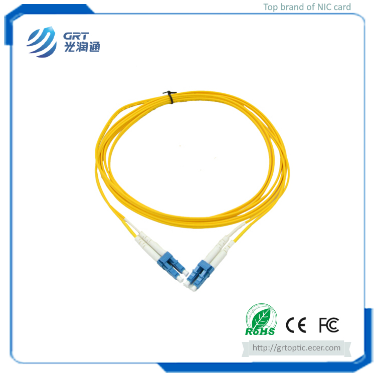 Durable low insertion loss 3m duplex LC-LC connector 10Gb SM fiber optic Patch Cable